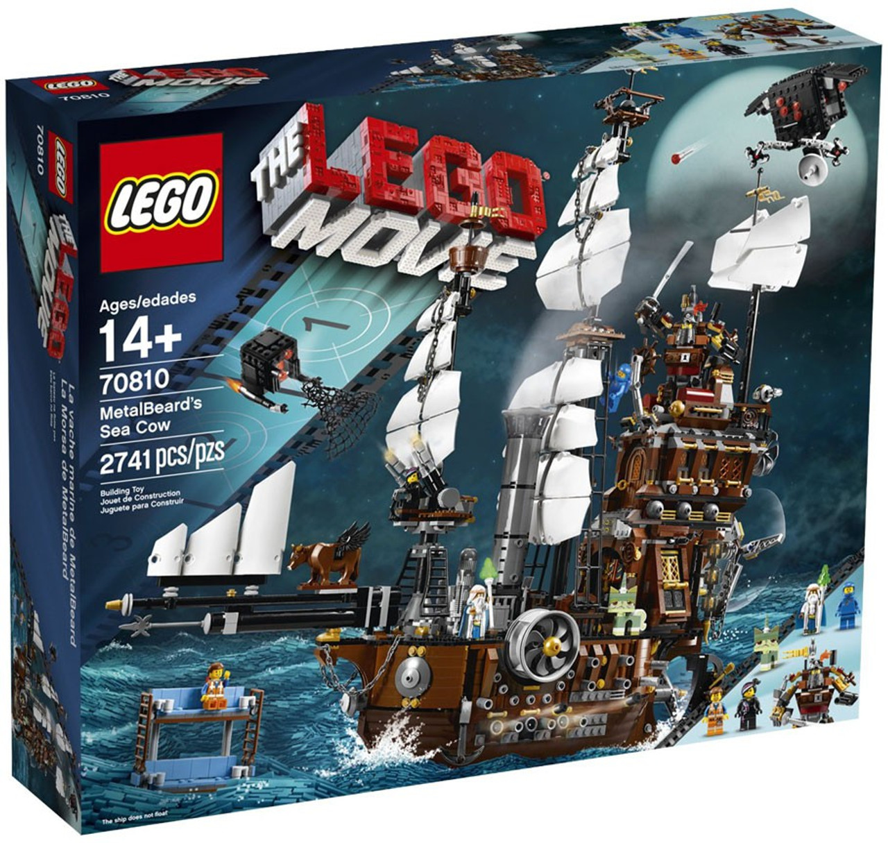 The LEGO Movie MetalBeard's Sea Cow Set #70810