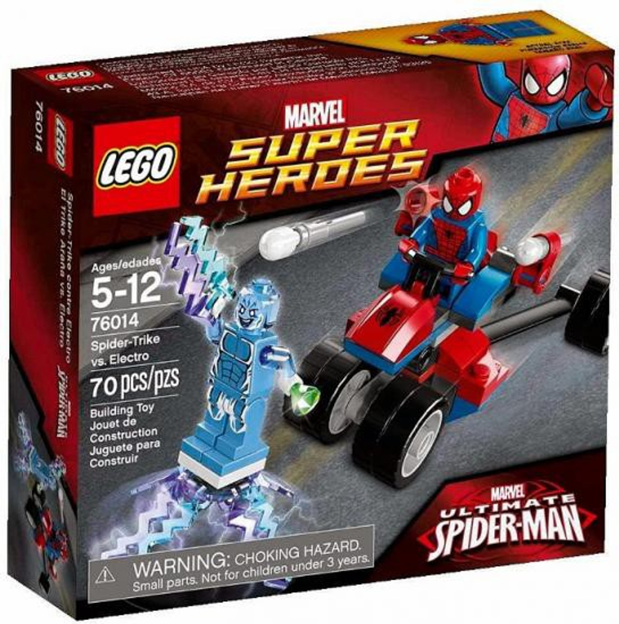 LEGO Marvel Super Heroes Ultimate Spider-Man Spider-Trike vs. Electro Set #76014