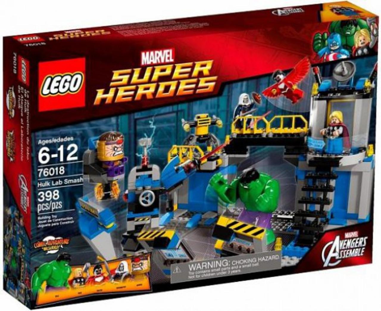 LEGO Marvel Super Heroes Avengers Assemble Hulk Lab Smash Set #76018