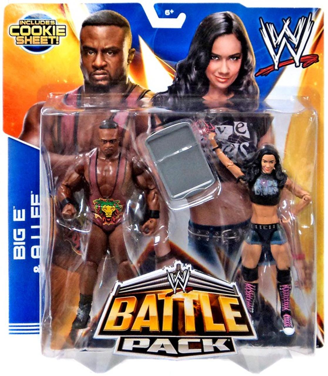 WWE Wrestling Series 28 AJ Lee & Big E Langston Action Figure 2-Pack [Cookie Sheet]