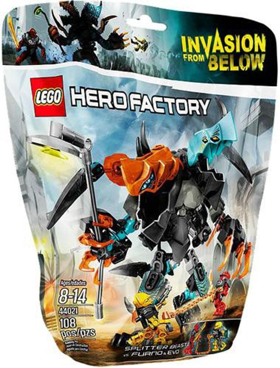 LEGO Hero Factory Splitter Beast VS. Furno & Evo Set #44021