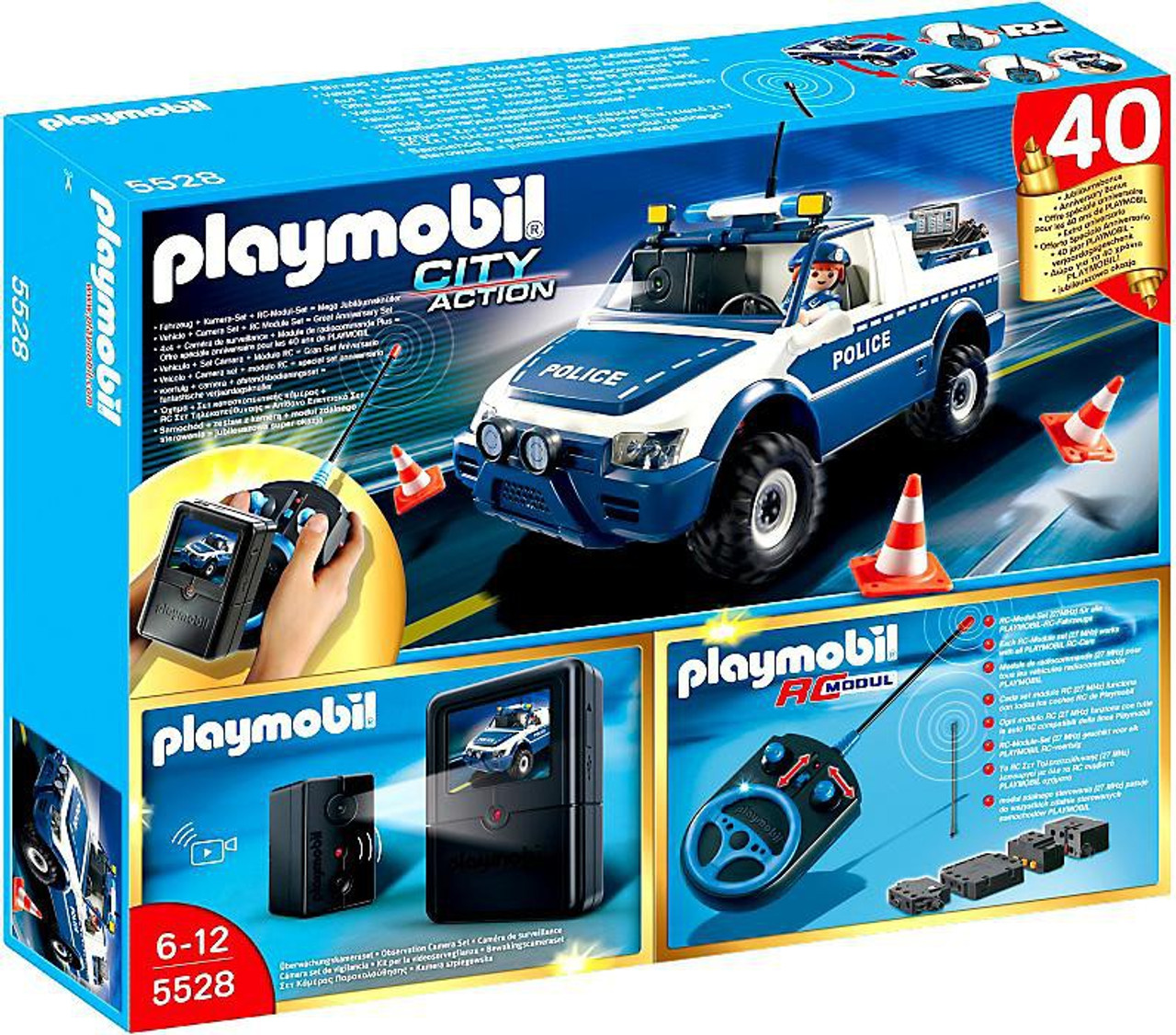 Playmobil City Action RC Police Car With Camera Set 5528