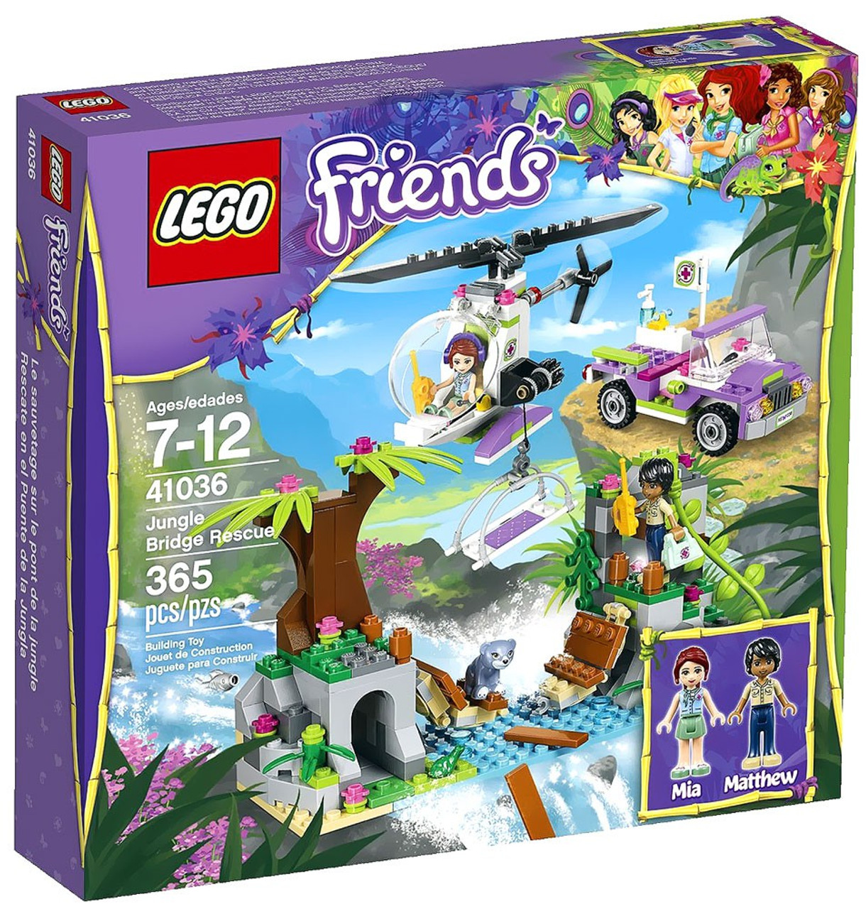 LEGO Friends Jungle Bridge Rescue Set #41036