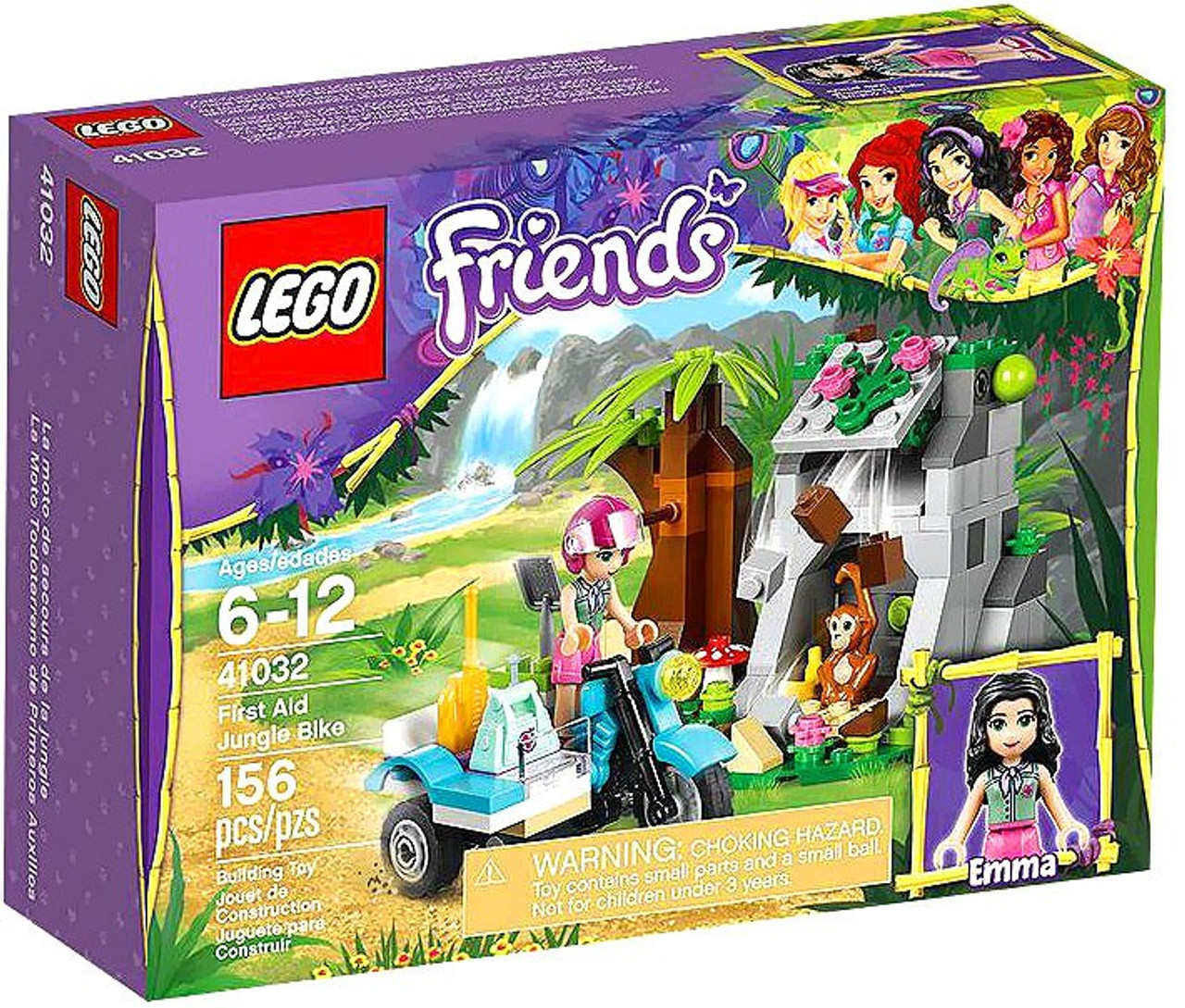 LEGO Friends First Aid Jungle Bike Set #41032