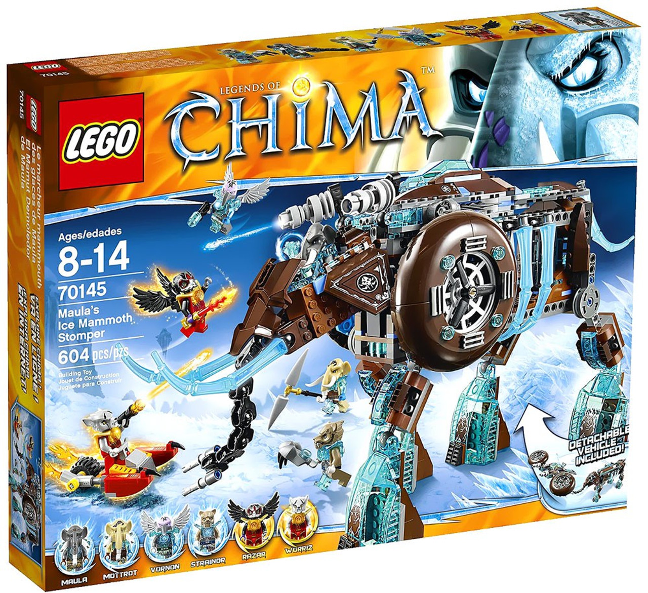 LEGO Legends of Chima Maula's Ice Mammoth Stomper Set #70145