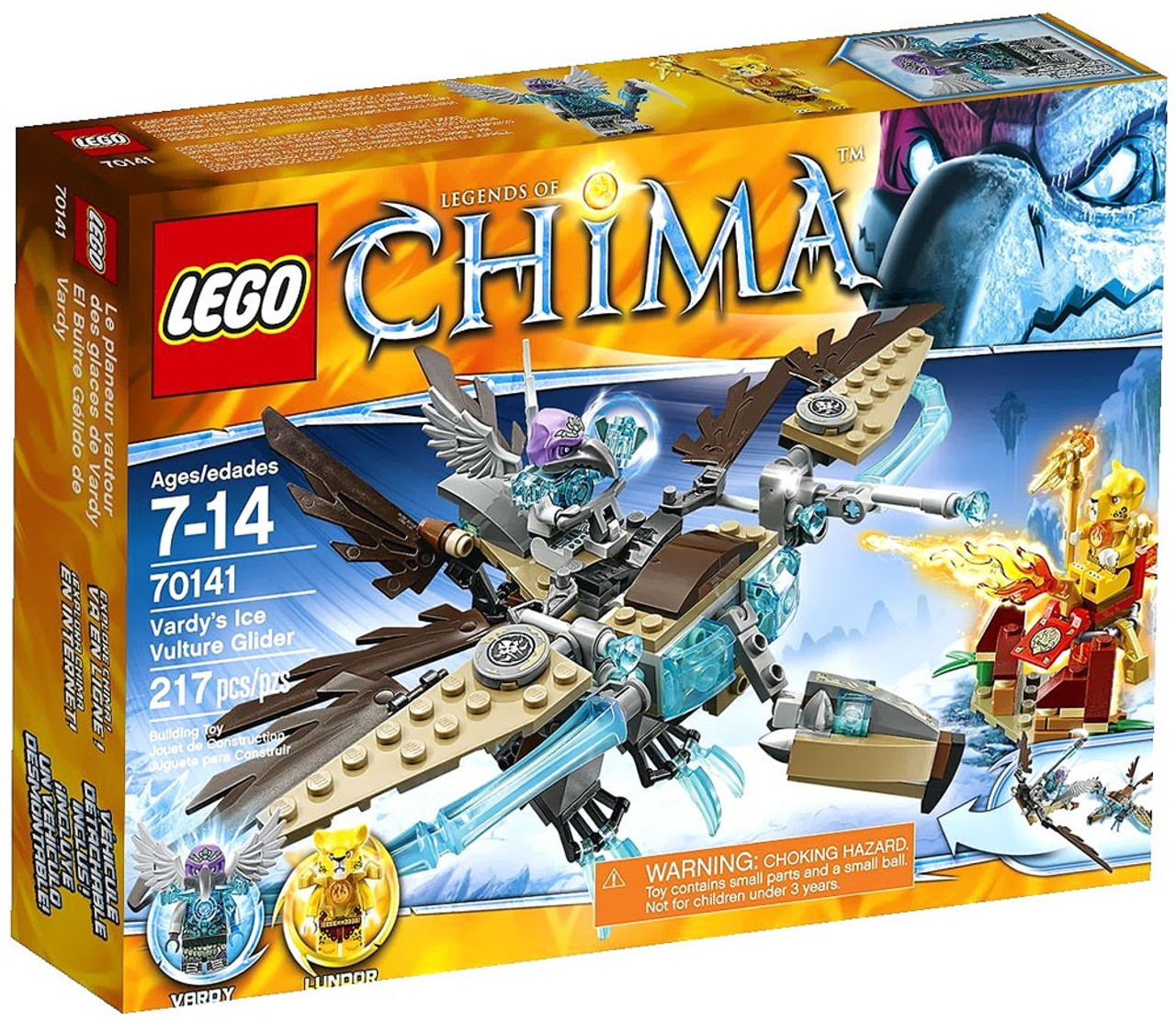 LEGO Legends of Chima Vardy's Ice Vulture Glider Set #70141