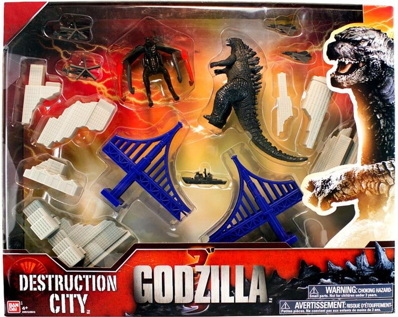 Godzilla 2014 Destruction City Playset [Gray Buildings]
