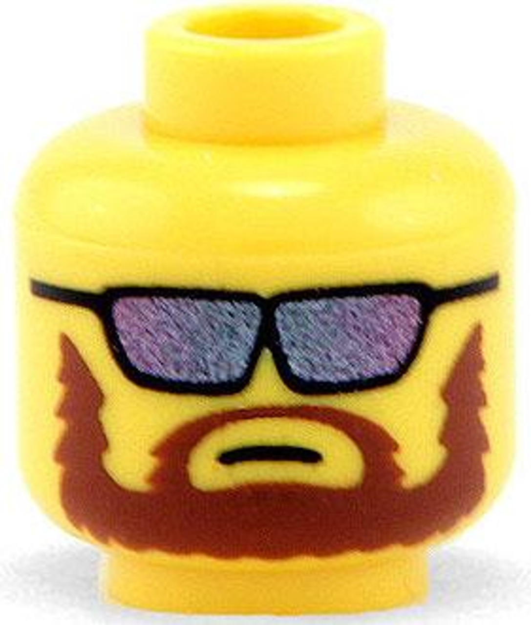 Citizen Brick Custom Printed Minifigure Parts Yellow Male Mercenary Loose Head [Loose]