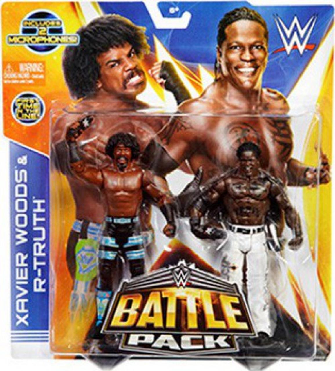 WWE Wrestling Series 30 Xavier Woods & R-Truth Action Figure 2-Pack [2 Microphones]