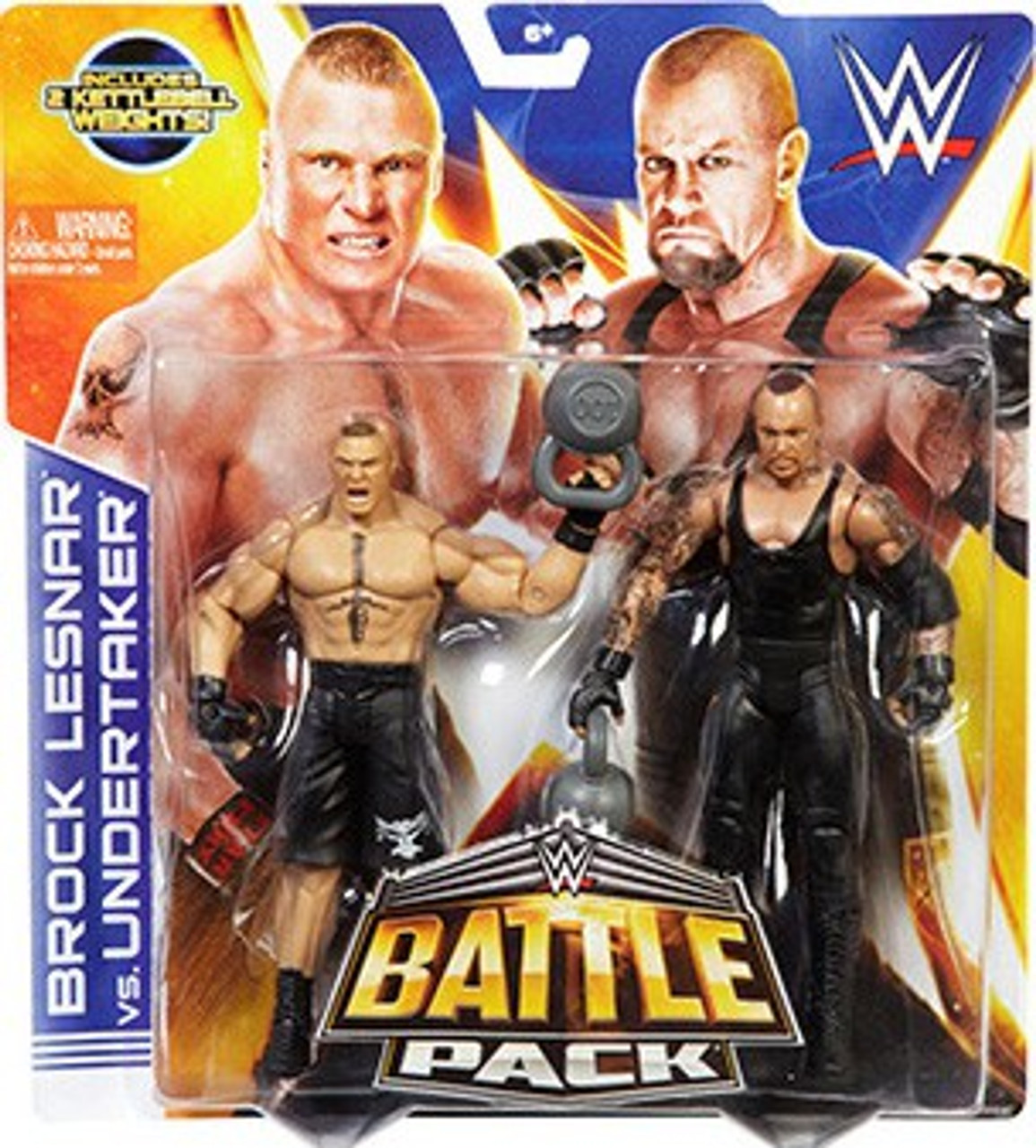 WWE Wrestling Series 30 Brock Lesnar & Undertaker Action Figure 2-Pack [Kettlebell Weights]
