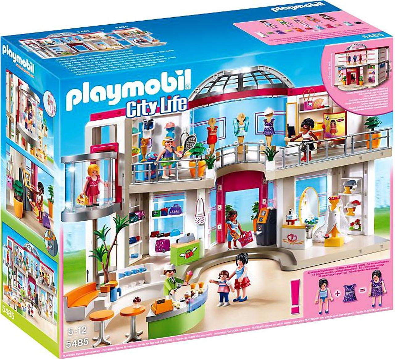 playmobil city life furnished shopping mall set 5485  toywiz