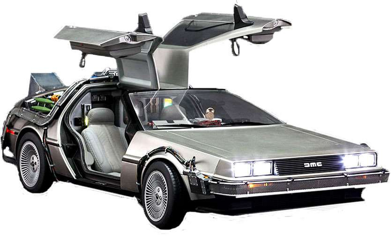 Back to the Future Movie Masterpiece DeLorean Time Machine 1/6 Collectible Vehicle