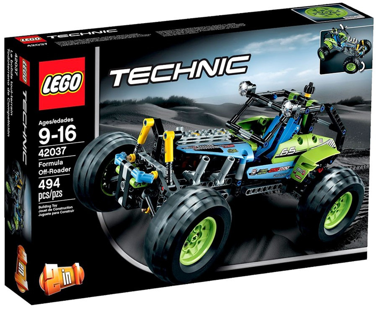 lego technic formula off roader set 42037 toywiz. Black Bedroom Furniture Sets. Home Design Ideas