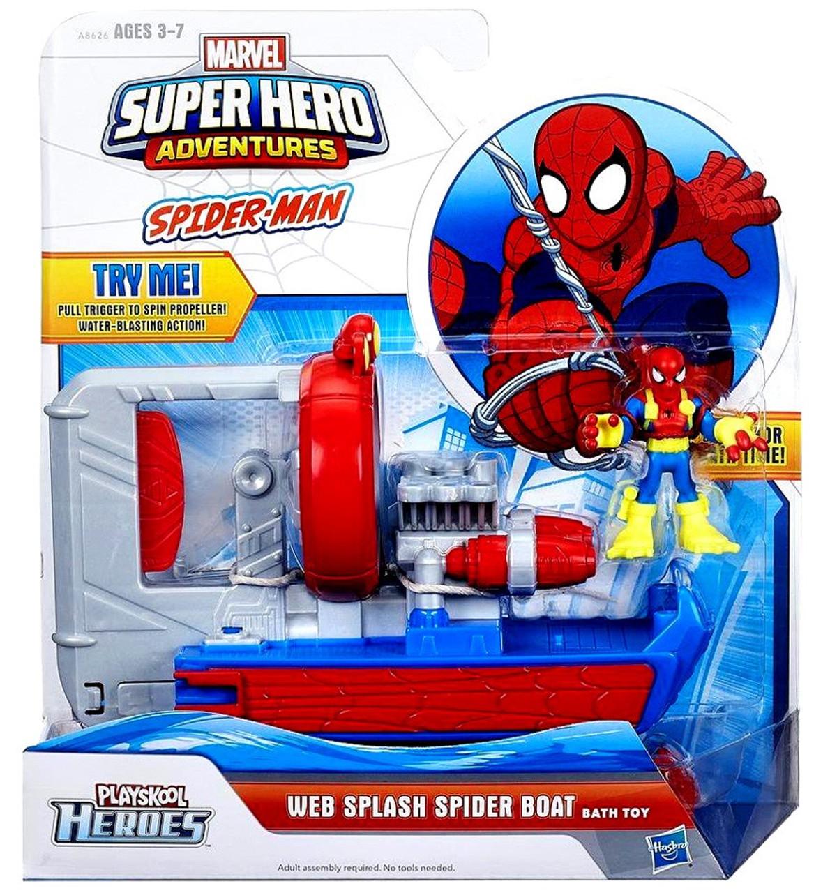 Spider Man Playskool Heroes Super Hero Adventures Web Splash Spider Boat  Bath Toy