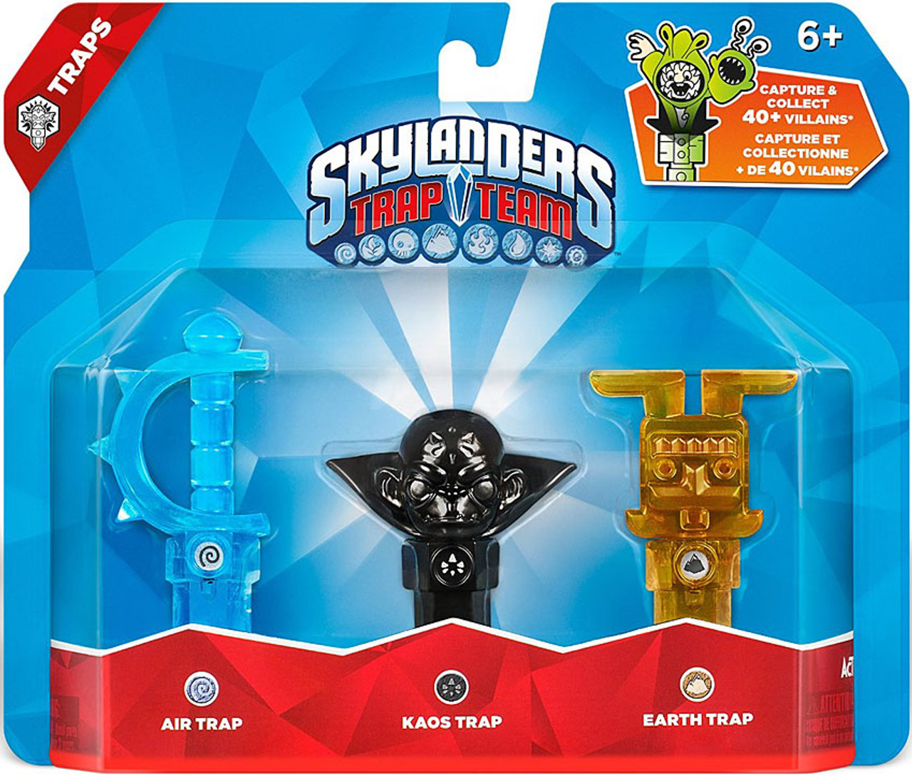 Skylanders Trap Team Air, Earth Kaos Trap 3-Pack ...