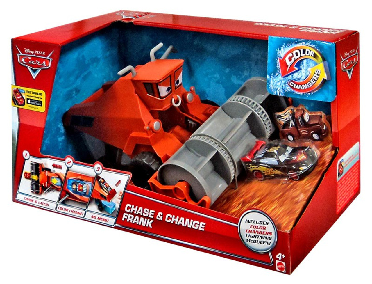 Cars Color Changers: Disney Cars Color Changers Chase Change Frank 155 Playset