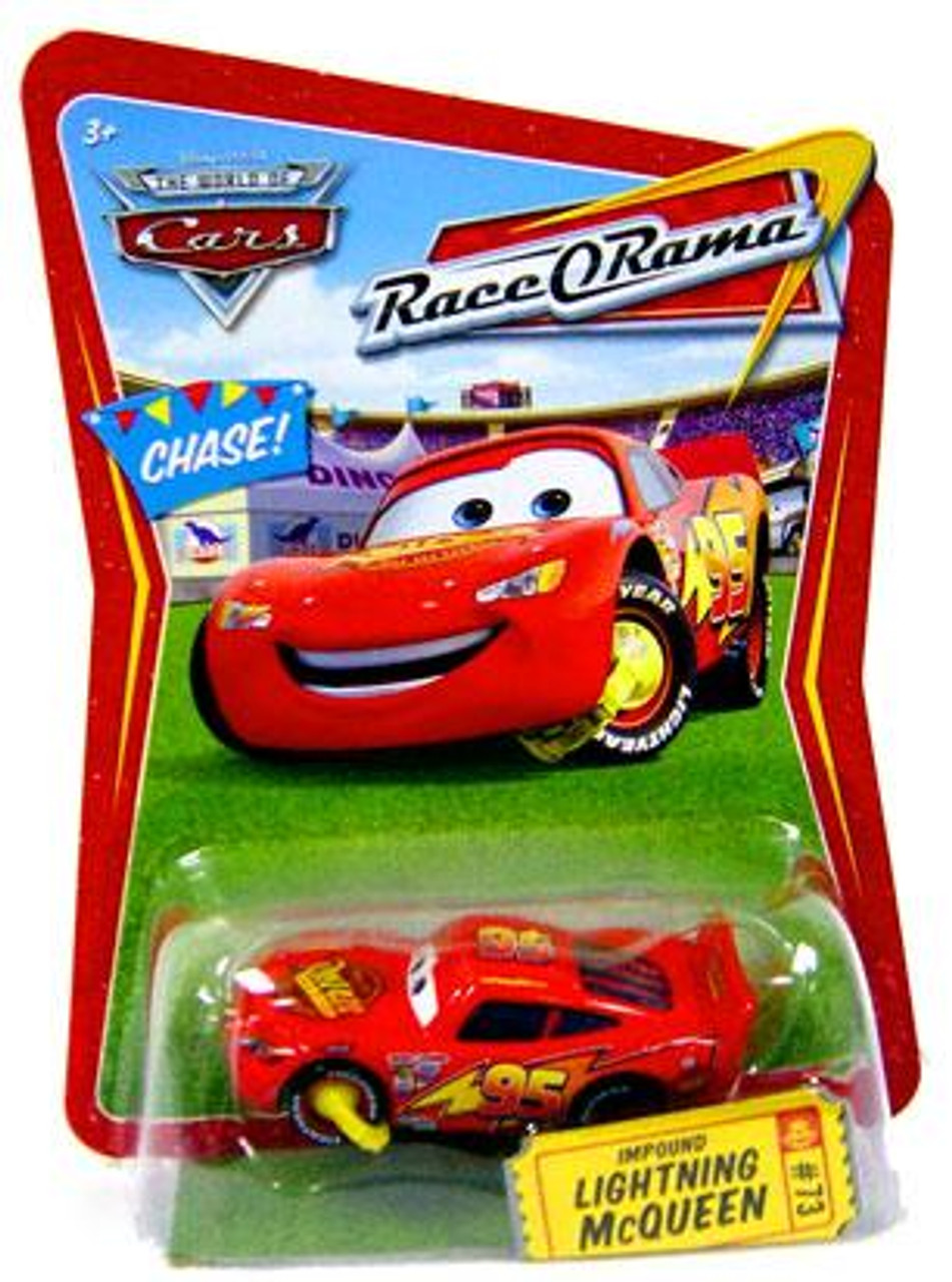 Disney Cars The World of Cars Race-O-Rama Impound Lightning McQueen Diecast Car #73 [Chase]