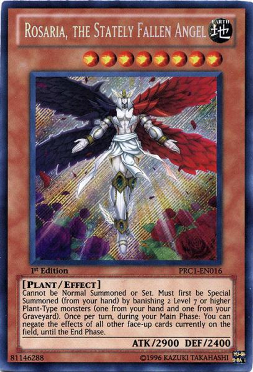YuGiOh 2012 Premium Collector Tin Secret Rare Rosaria, The Stately Fallen Angel PRC1-EN016