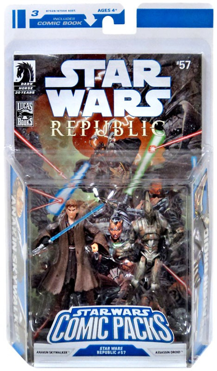 Star Wars Expanded Universe Comic Packs 2009 Anakin Skywalker & Assassin Droid Action Figure 2-Pack #57