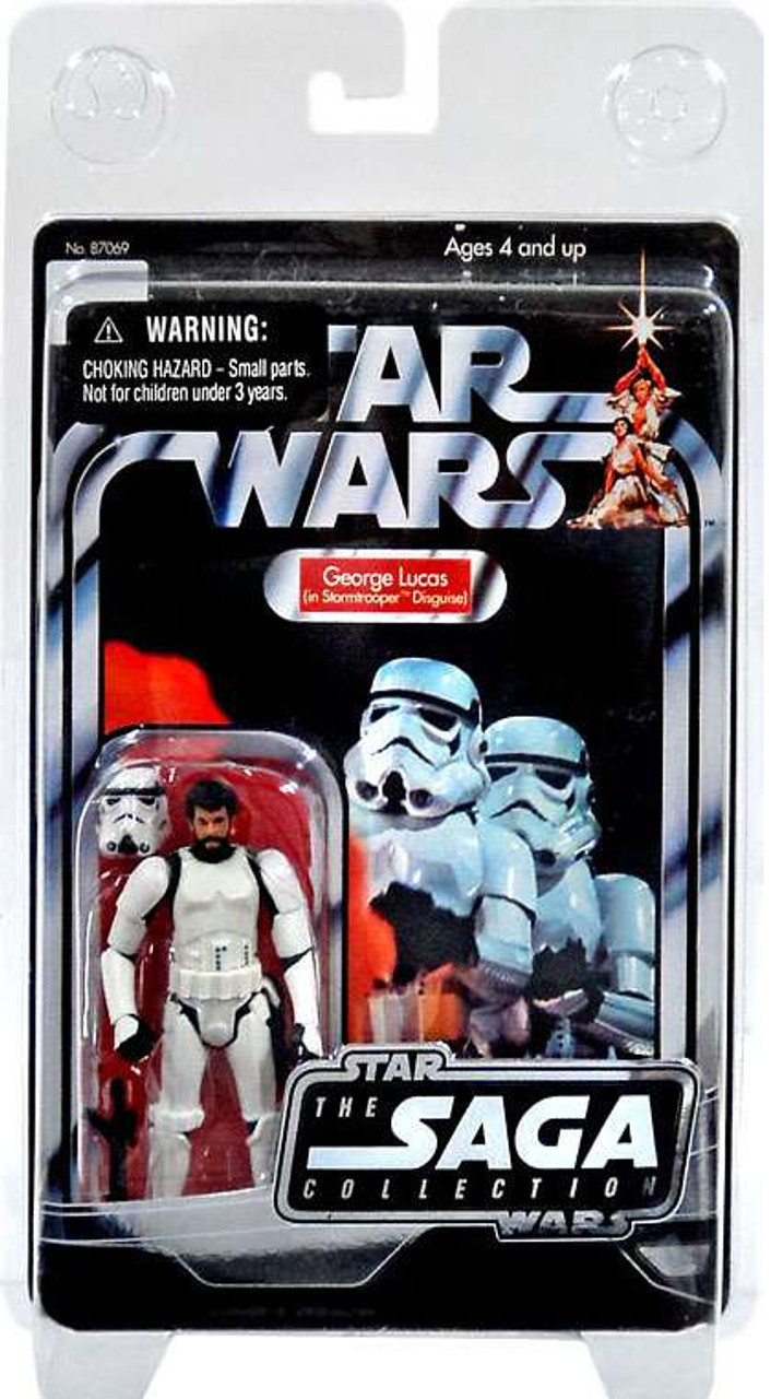 Star Wars Expanded Universe Saga Collection 2006 Vintage George Lucas in Stormtrooper Outfit Exclusive Action Figure
