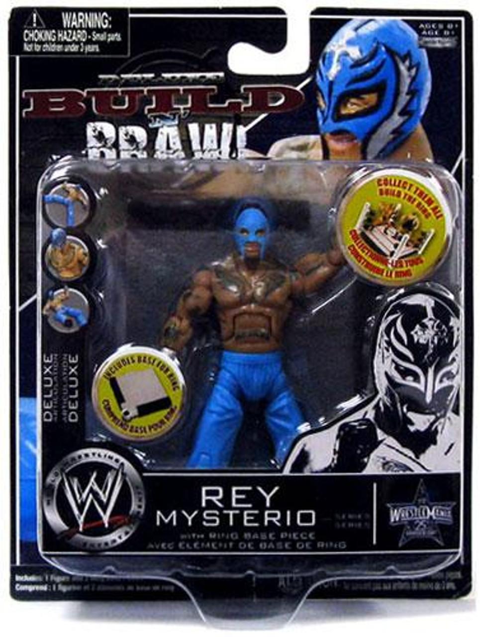 WWE Wrestling Build N' Brawl 25th Anniversary Rey Mysterio Action Figure [Blue Pants]
