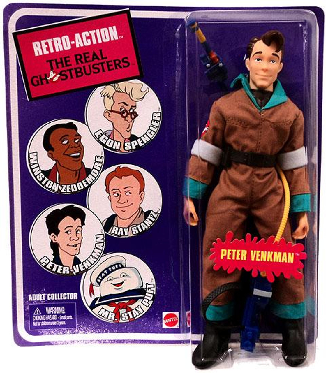 The Real Ghostbusters Retro Action Series 1 Peter Venkman Action Figure