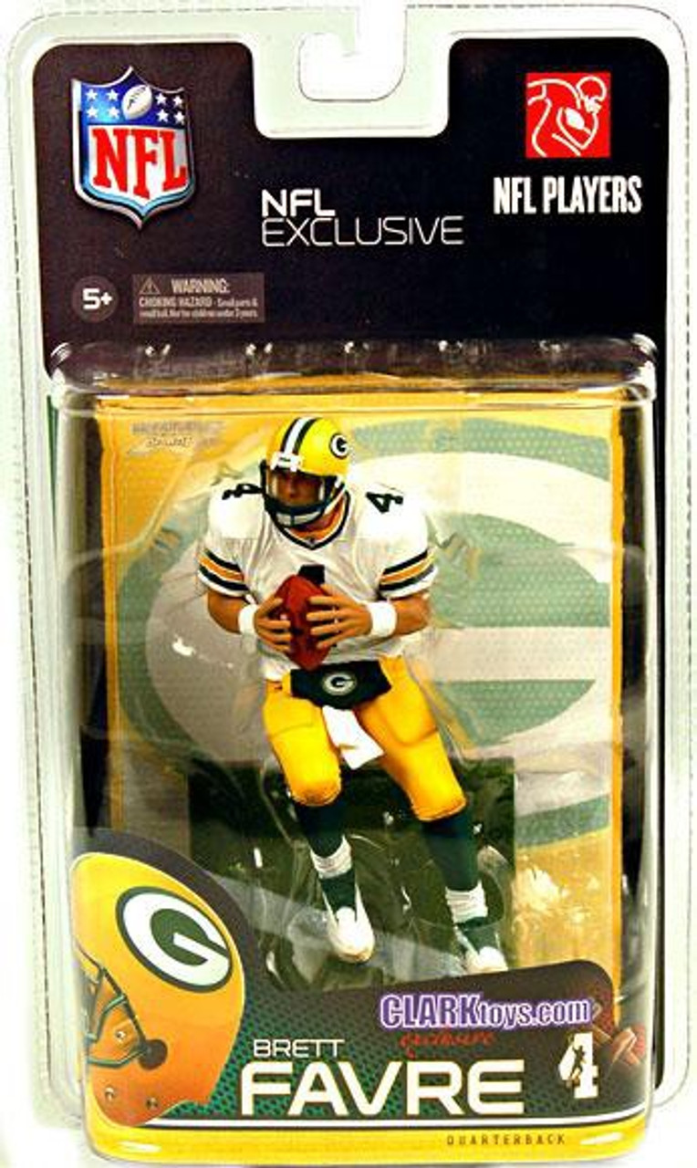 McFarlane Toys NFL Green Bay Packers Sports Picks Exclusive Brett Favre Exclusive Action Figure [White Jersey]