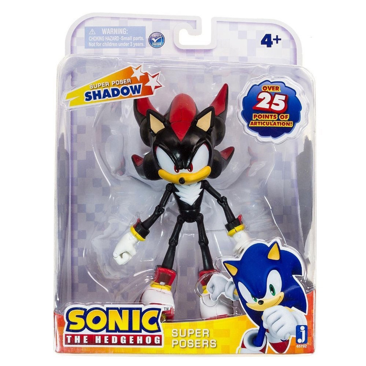 Sonic The Hedgehog 20th Anniversary Super Posers Shadow Action Figure