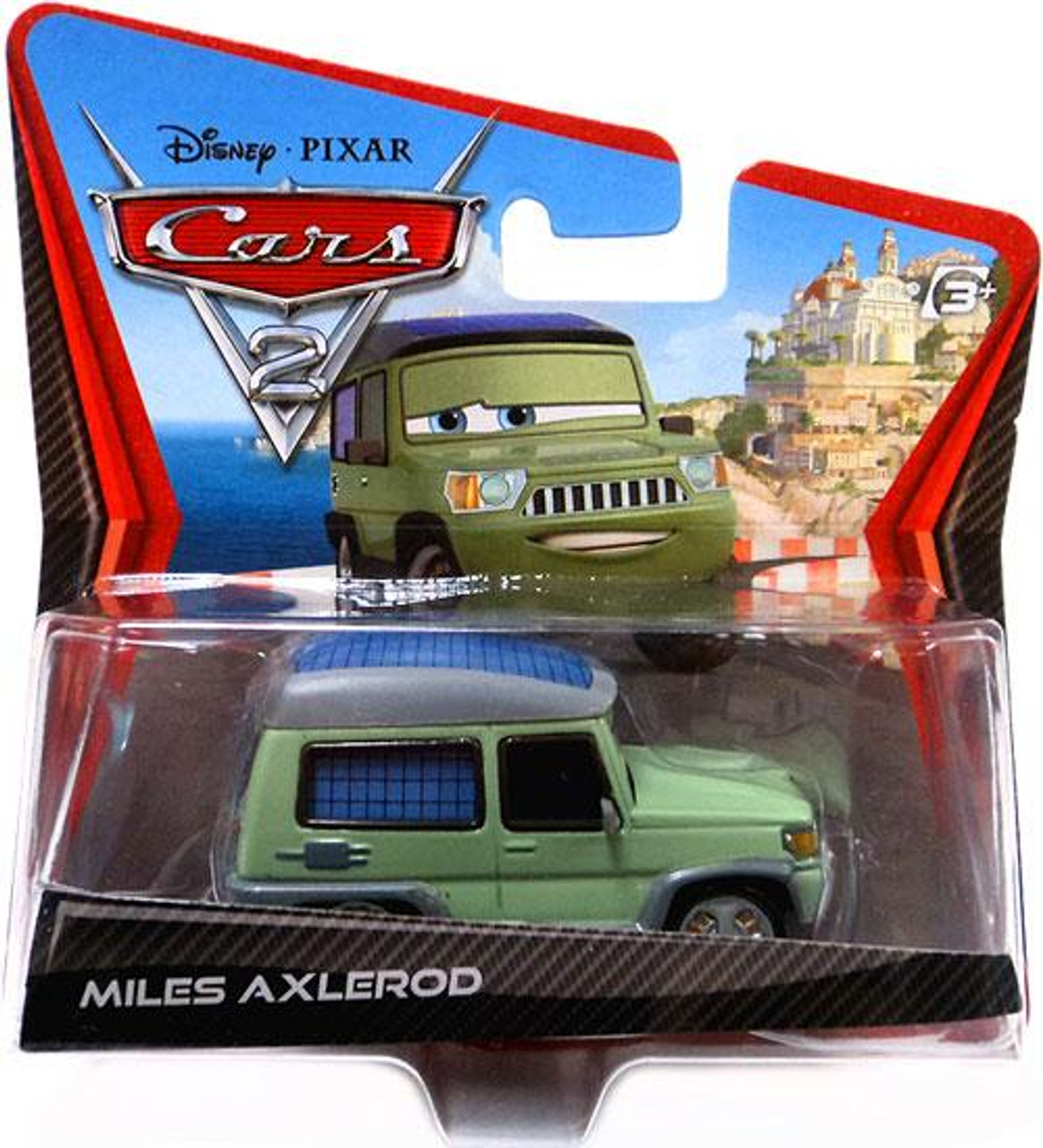 Disney Cars Cars 2 Main Series Miles Axlerod Diecast Car [Wide Card]