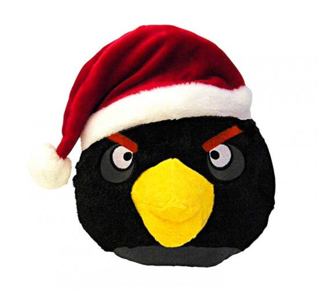 Angry Birds Black Bird 5-Inch Plush [Christmas]