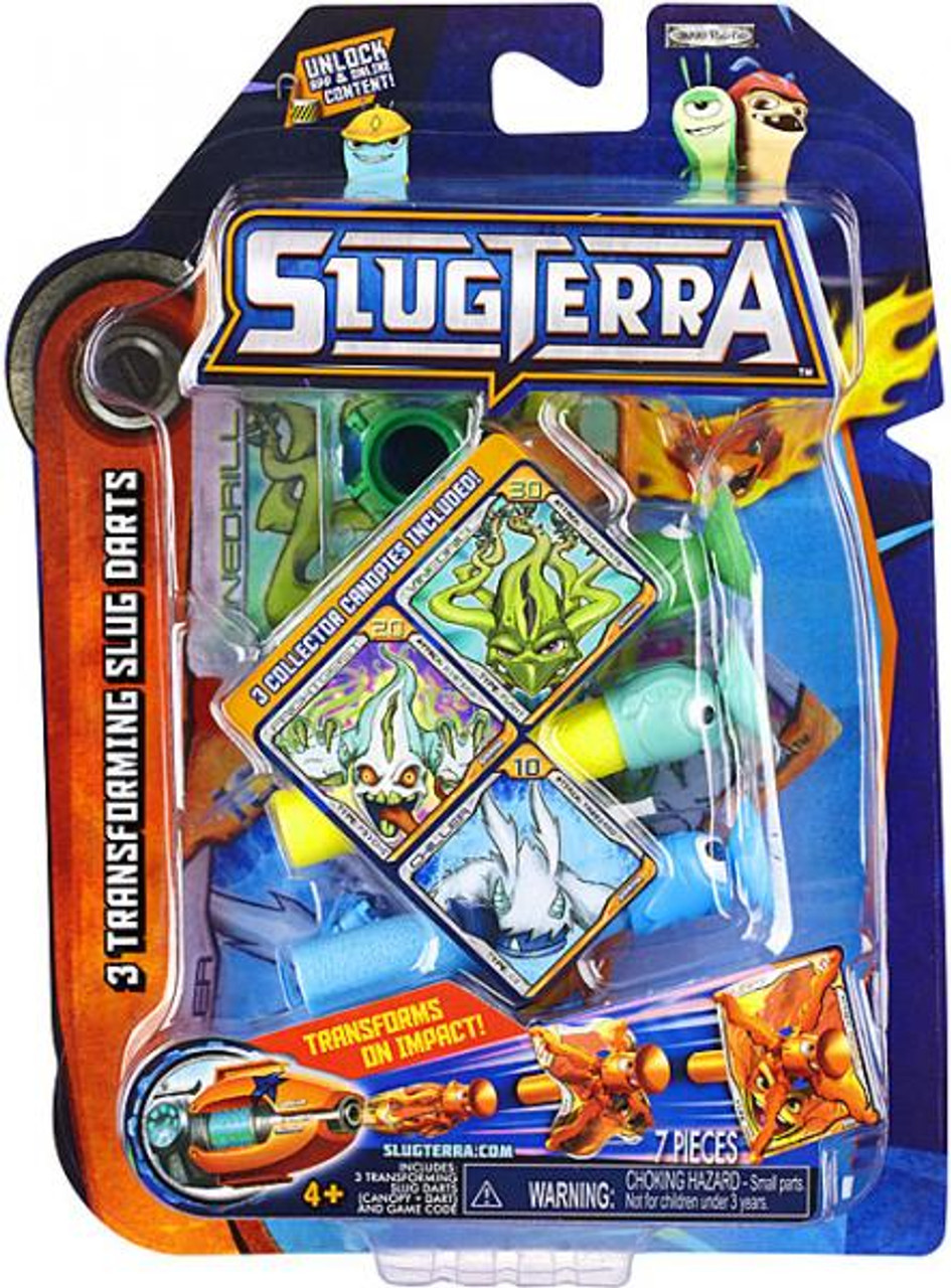 Slugterra Blaster & Evo Dart Transforming Slug Darts 3-Pack Exclusive [Vinedrill, Frightgeist & Chiller]