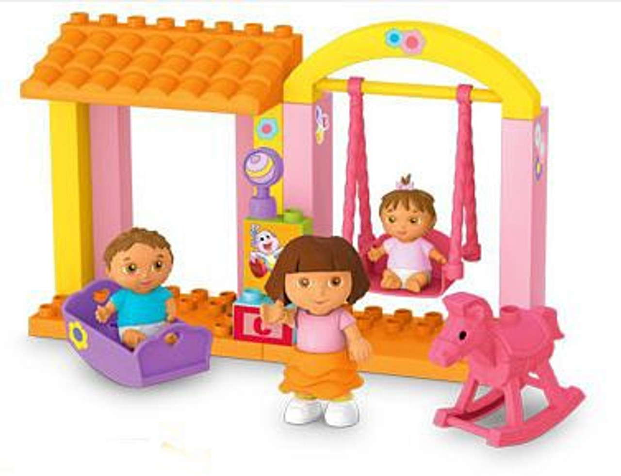 Mega Bloks Dora the Explorer Dora's Family Nursery Set #3081 [Loose]