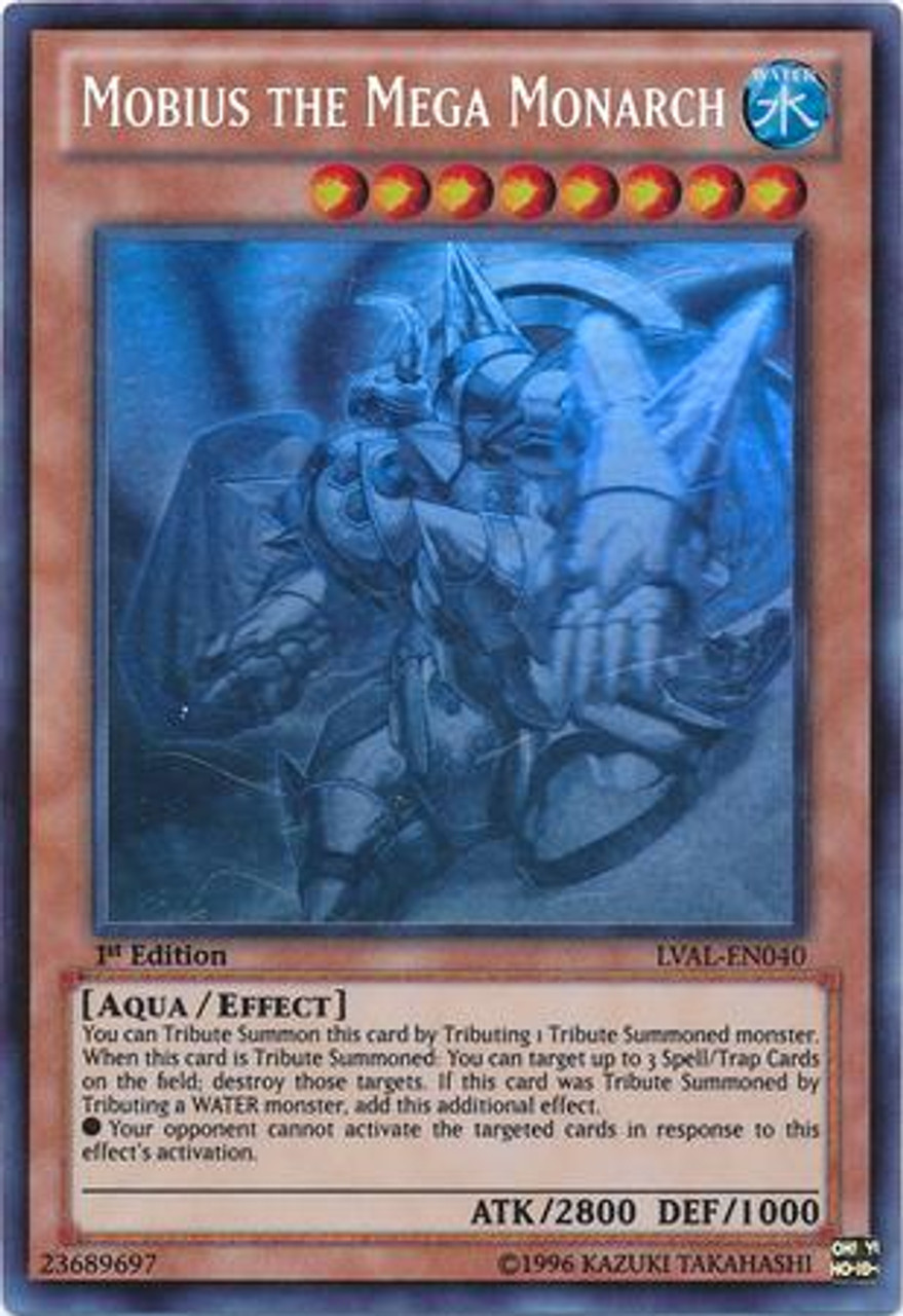 YuGiOh Zexal Legacy of the Valiant Ghost Rare Mobius the Mega Monarch LVAL-EN040