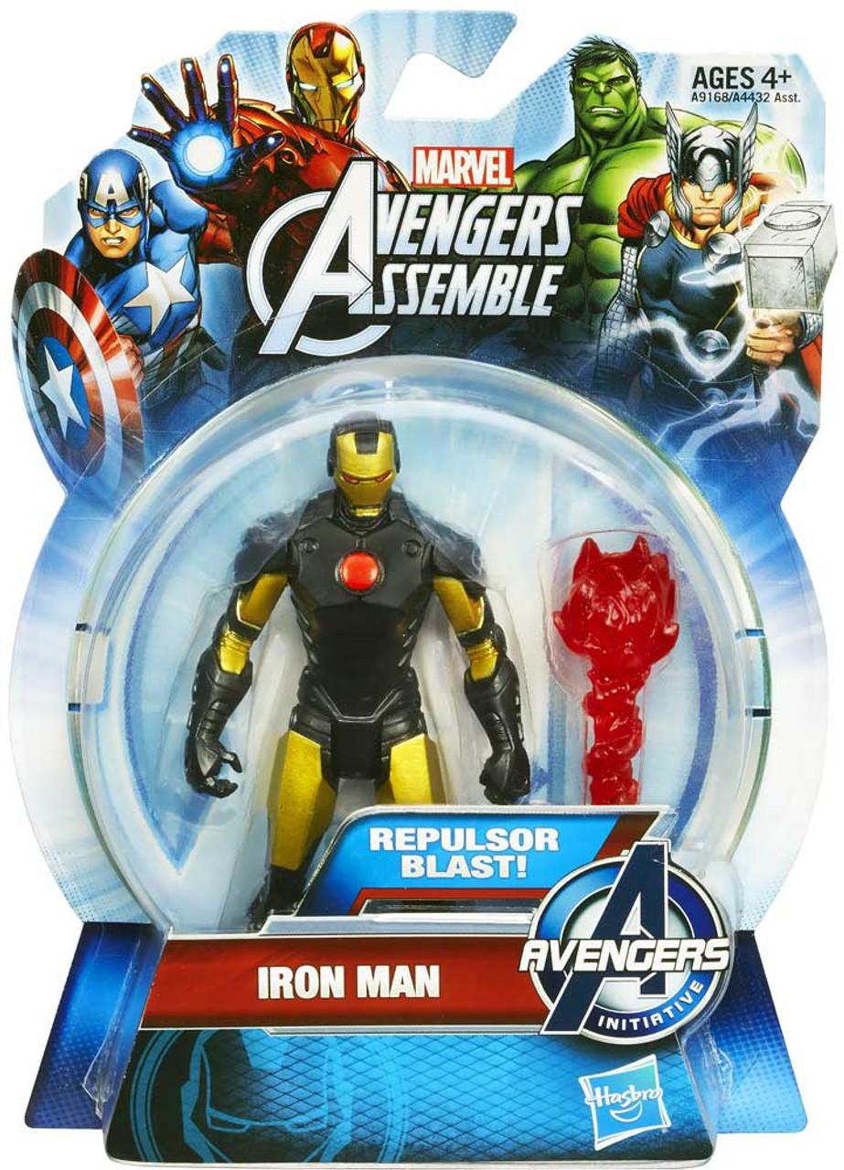 Marvel Avengers Assemble Iron Man Action Figure [Repulsor Blast, Gold & Black]