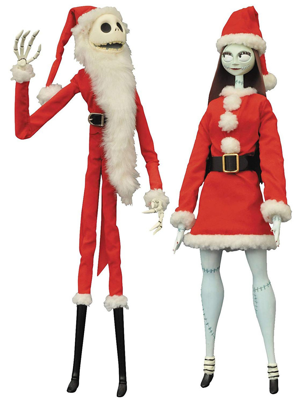 Nightmare Before Christmas Coffin Doll Santa Jack Sally Doll Set ...