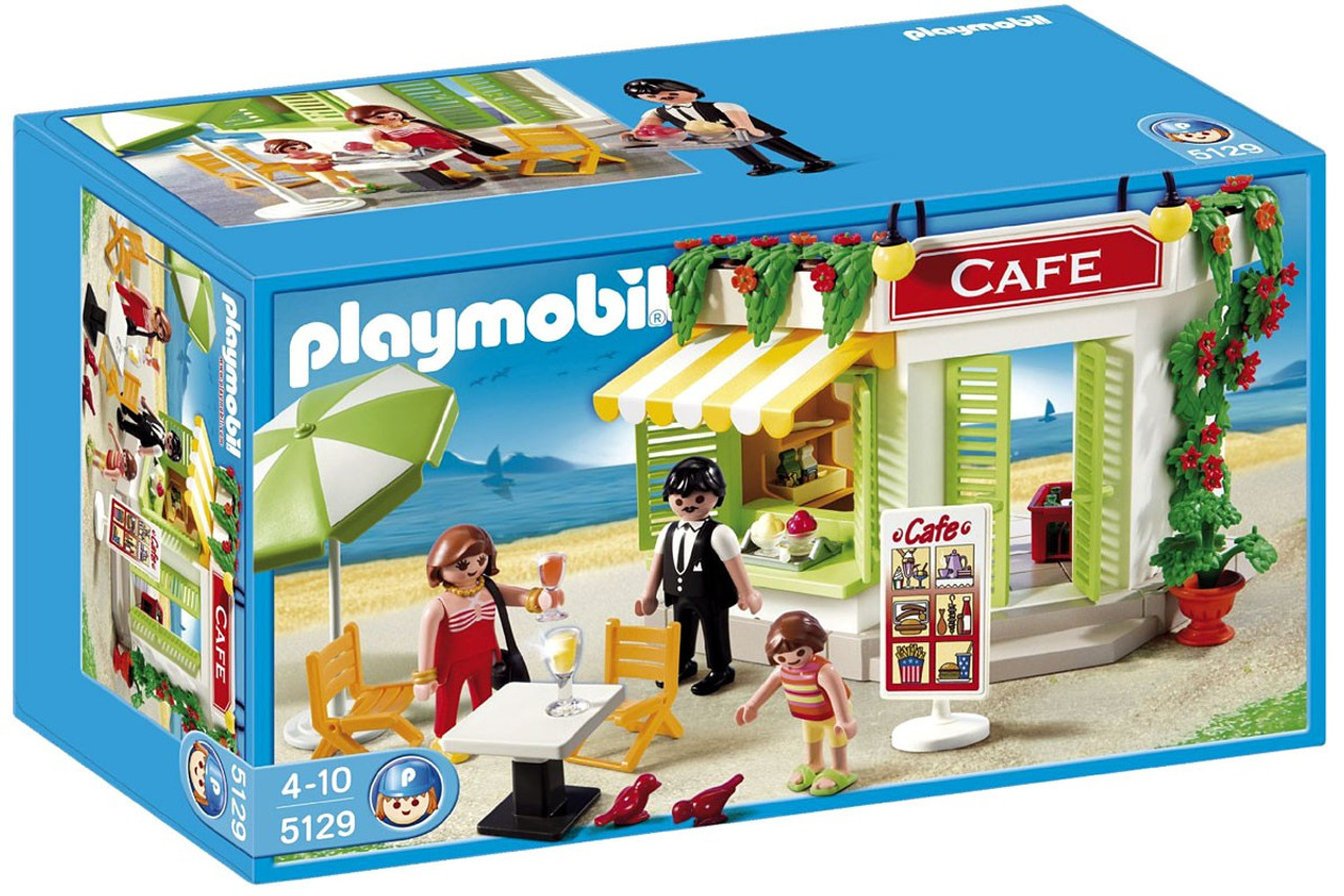playmobil harbor cafe set 5129 toywiz. Black Bedroom Furniture Sets. Home Design Ideas