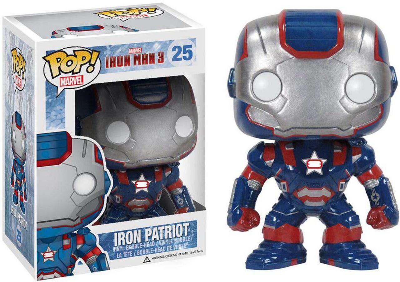 Iron Man 3 Funko POP! Marvel Iron Patriot Vinyl Bobble Head #25