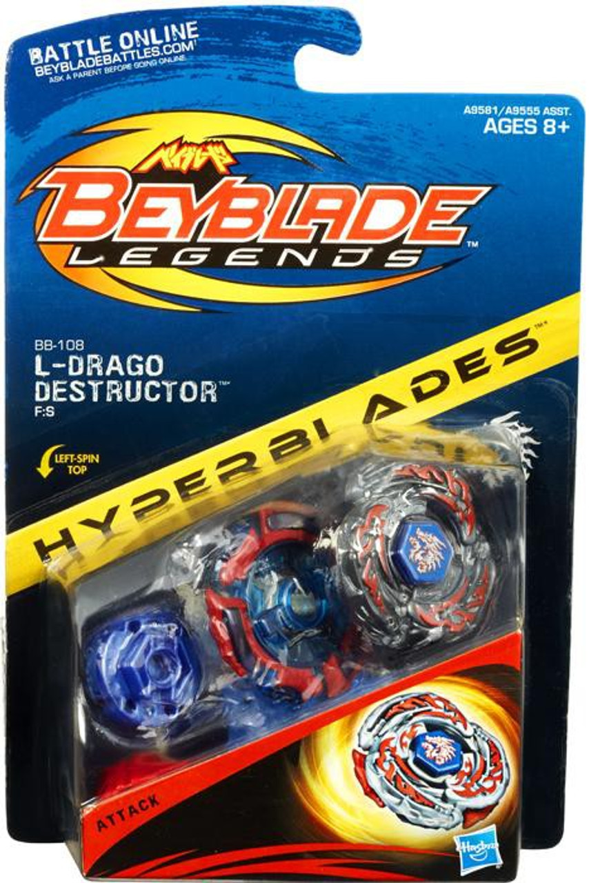 Beyblade Legends Hyperblades L-Drago Destructor Figure Pack BB-108 [BB-108]