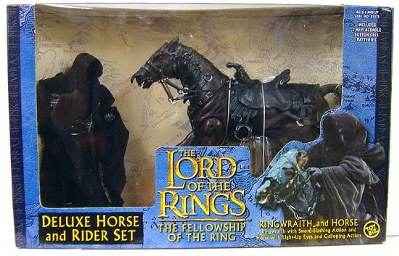 The Lord of the Rings The Fellowship of the Ring Deluxe Horse and Rider Set Ringwraith & Horse Action Figure Set [Blue Box]