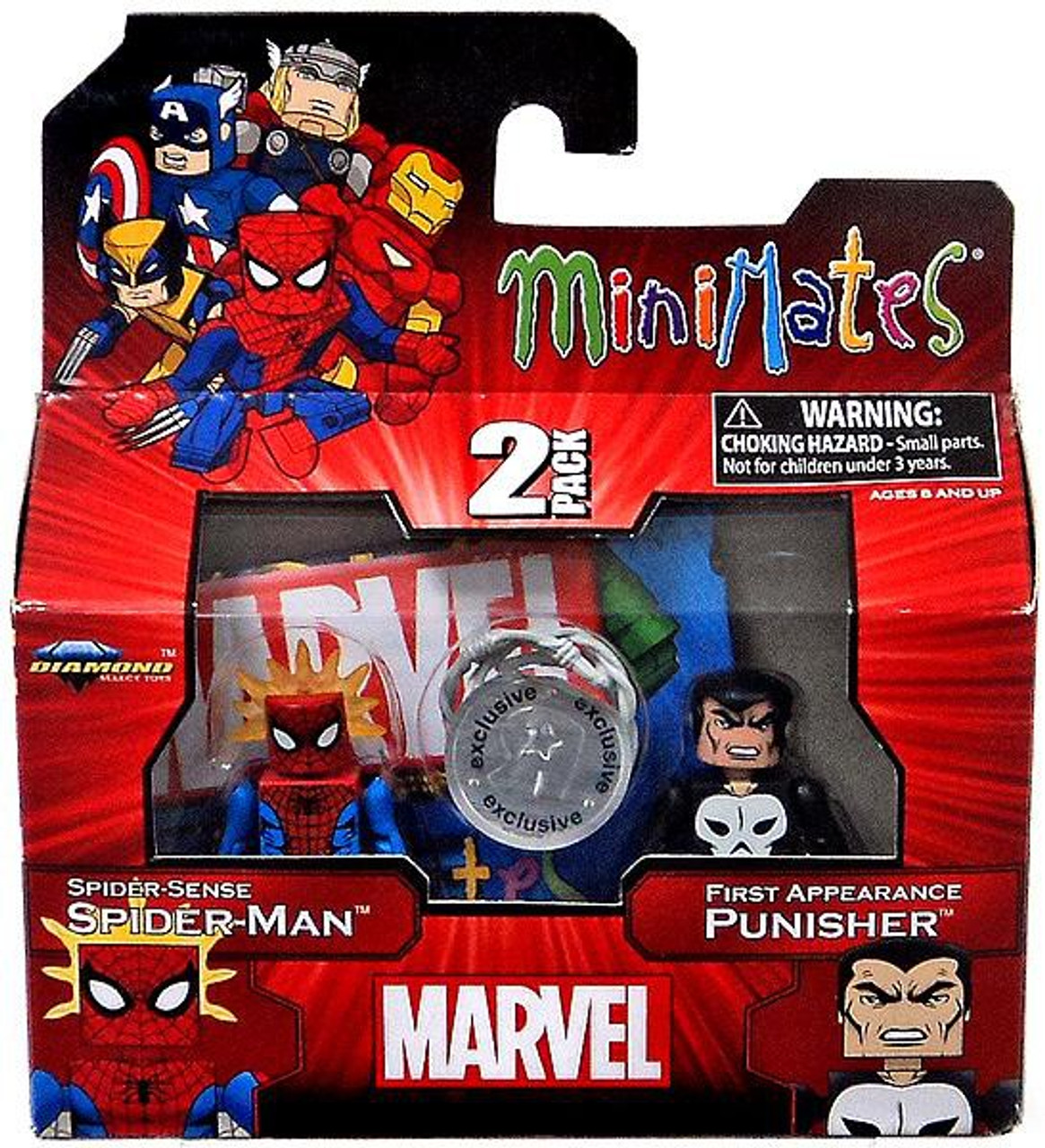 Marvel Minimates Spider-Sense Spider-Man & First Appearance Punisher Exclusive Minifigure 2-Pack