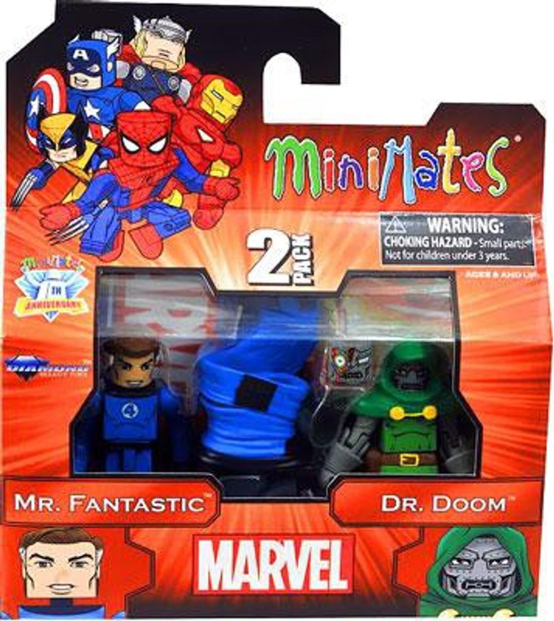 Marvel Minimates Best of Series 2 Mr. Fantastic & Dr. Doom Minifigure 2-Pack