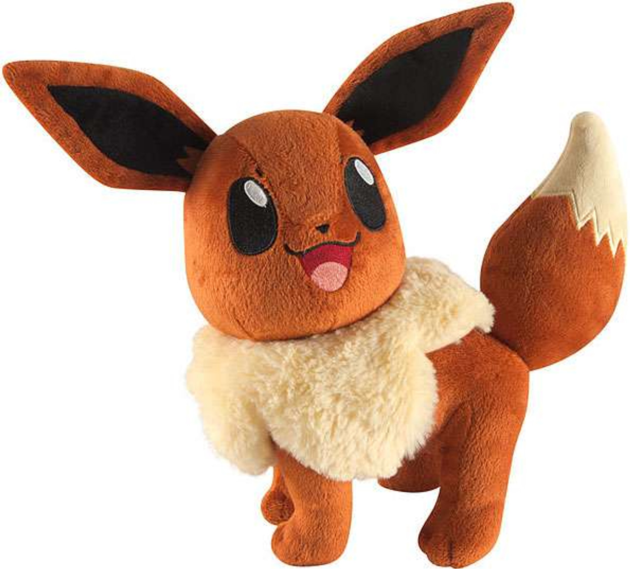 Pokemon Eevee 10-Inch Large Plush [Looking Up, Smiling]