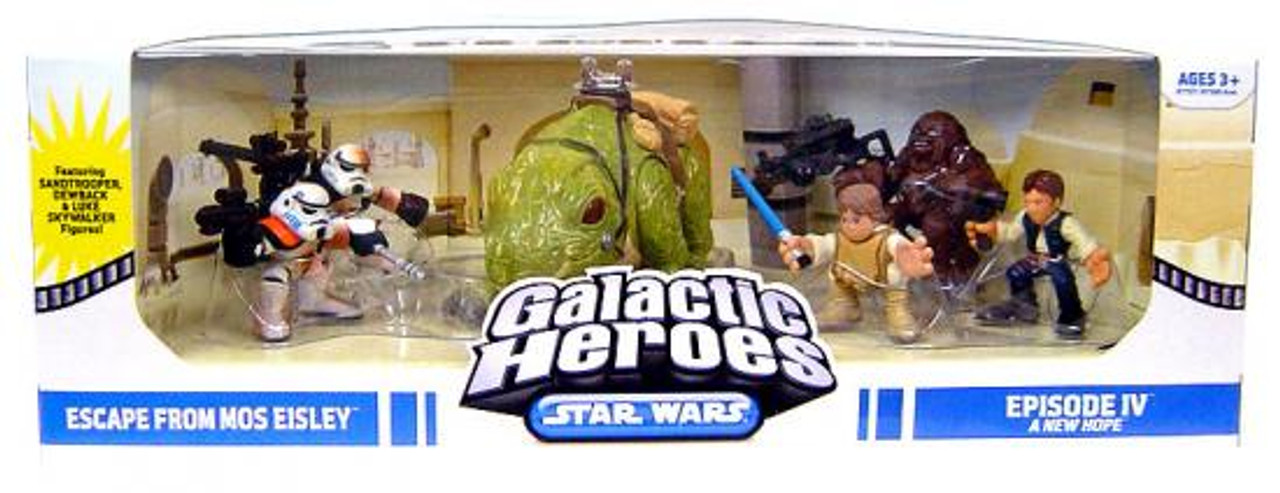 Star Wars A New Hope Galactic Heroes Cinema Scenes Escape From Mos Eisley Mini Figure Set