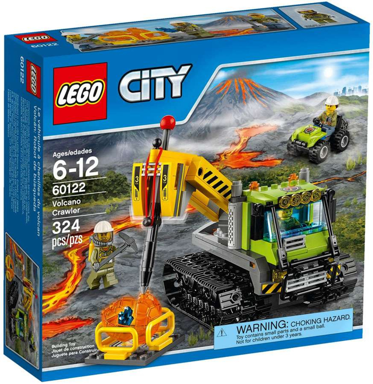 Pin lego 60032 city the lego summer wave in official images on - Lego City Volcano Crawler Set 60122