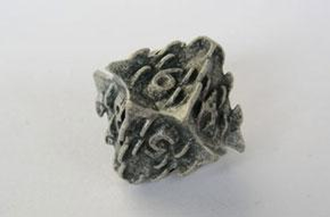IronDie 10-Sided Die White Death Single Die [d10]