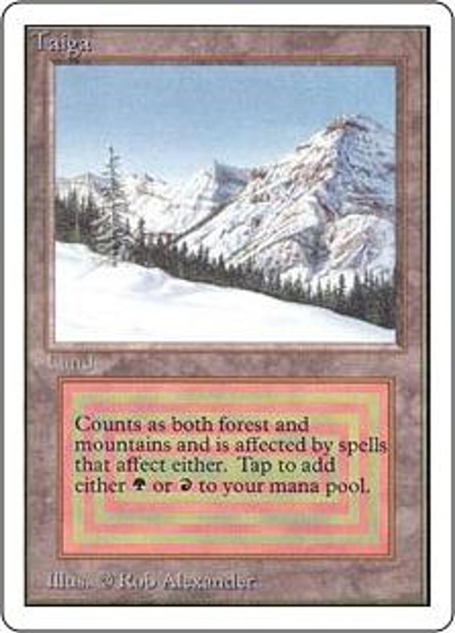 MtG Unlimited Rare Taiga