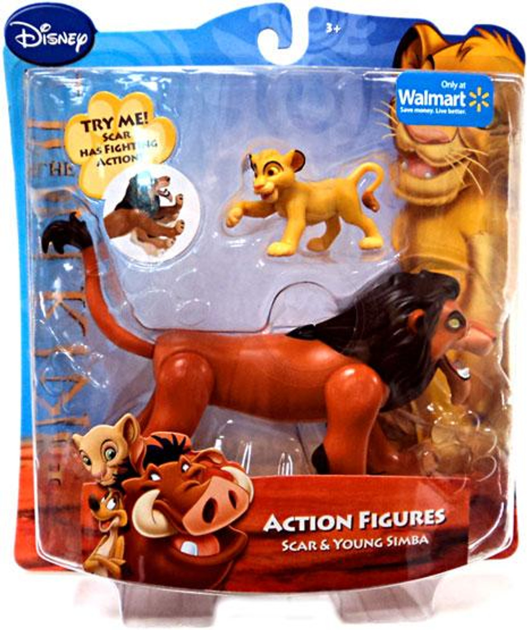 Disney The Lion King Scar & Young Simba Exclusive Action Figure 2-Pack