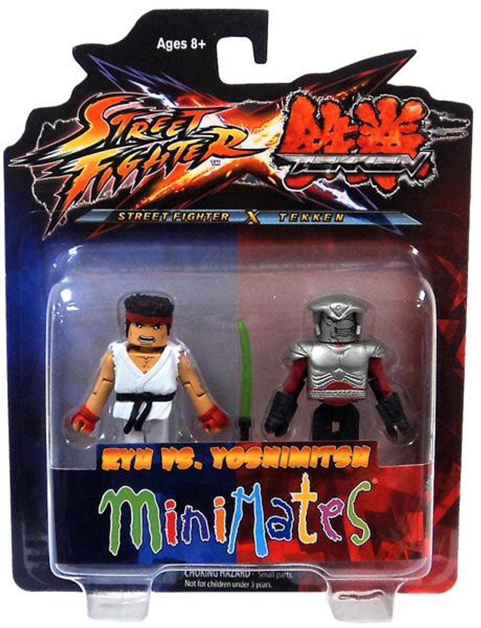 Street Fighter X Tekken Minimates Series 2 Ryu vs Yoshimitsu Minifigure 2-Pack