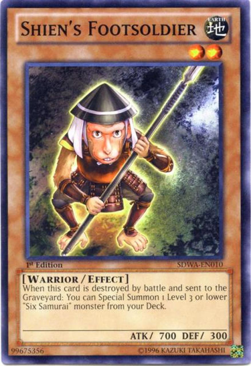 YuGiOh Zexal Samurai Warlords Structure Deck Common Shien's Footsoldier SDWA-EN010