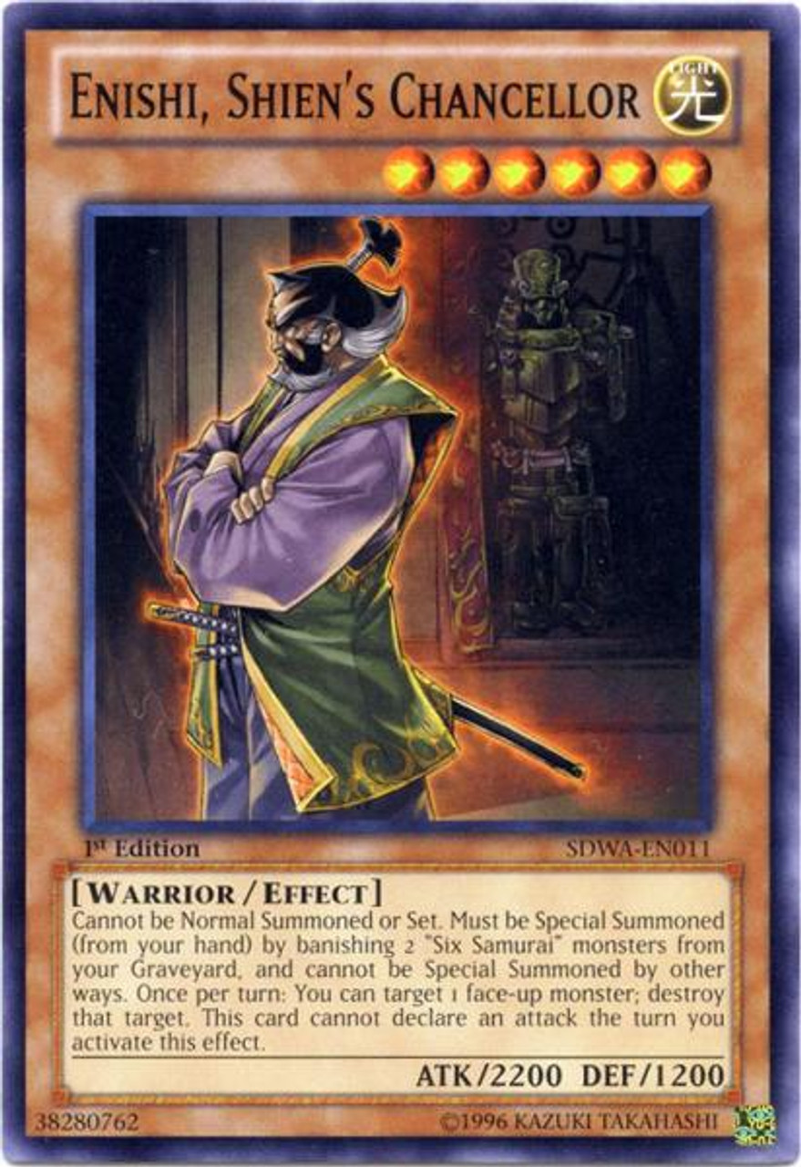 YuGiOh Zexal Samurai Warlords Structure Deck Common Enishi, Shien's Chancellor SDWA-EN011